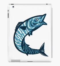 Wahoo Fish Jumping Isolated Retro iPad Case/Skin