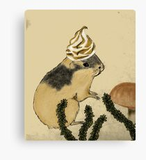 Arctic Lemming Meringue Canvas Print