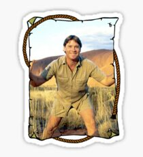 Steve Irwin Crocodile Hunter Sticker