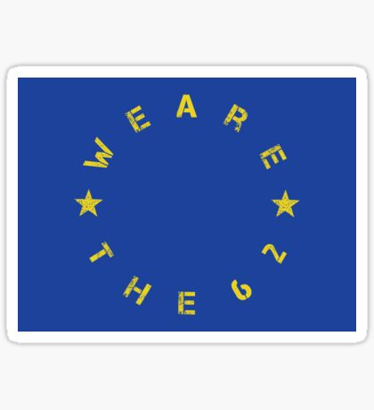 We Are The 62% (Circular) Sticker