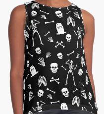 Skeleton Dance in Black Contrast Tank