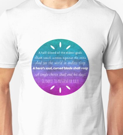Percy Jackson Prophecy Unisex T-Shirt