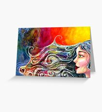 Bohemian Fire Greeting Card