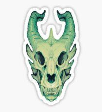 Dragon Skull Sticker