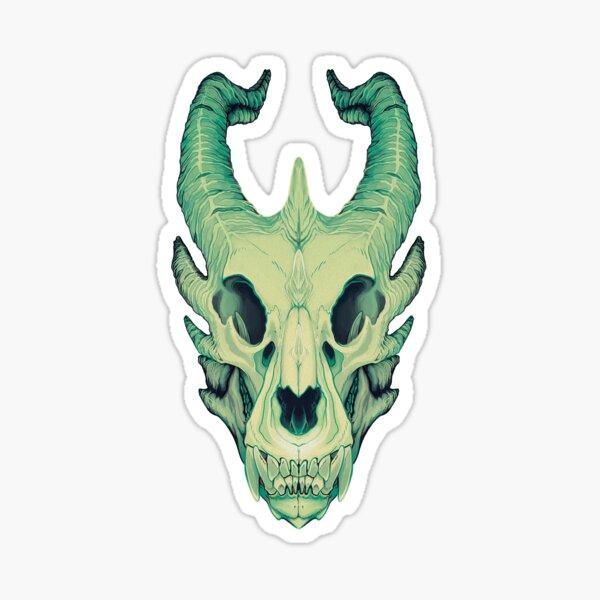 Crâne de dragon Sticker