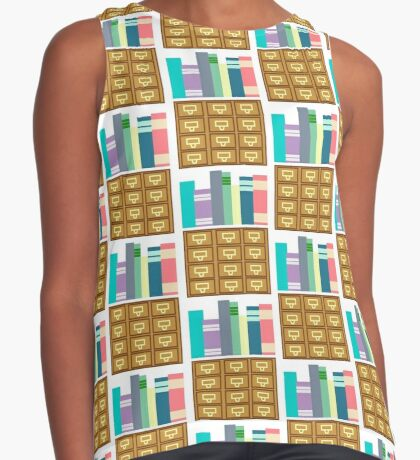 I'm Booked Contrast Tank