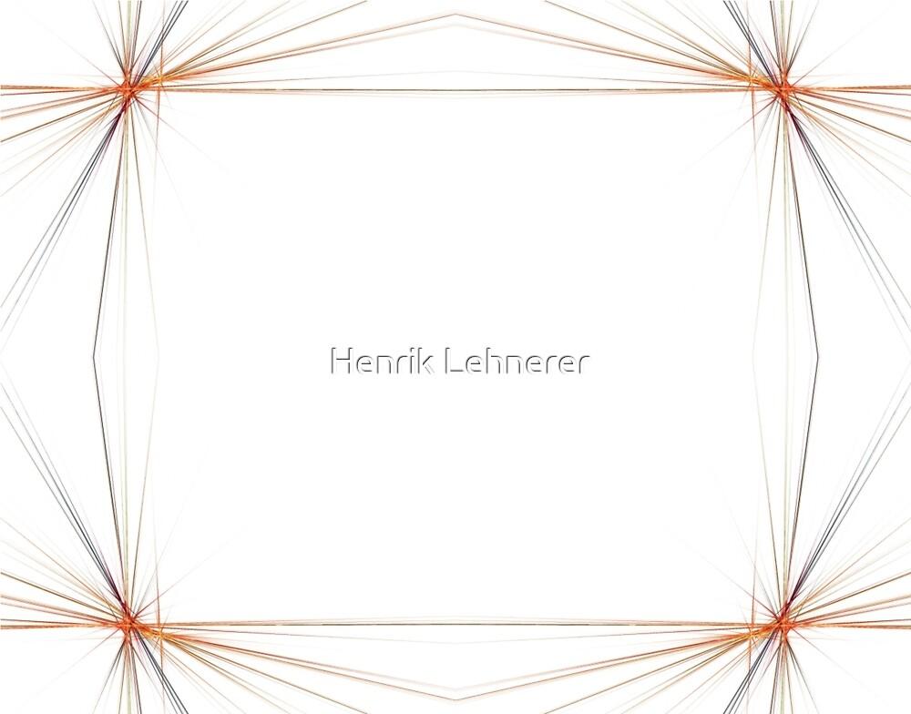 Fractal 48 Orange Frame by Henrik Lehnerer