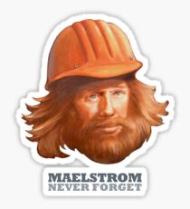 Maelstrom - Never Forget - Construction Worker Sticker