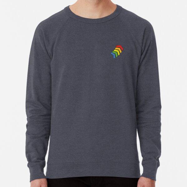 Chevron Action Flash Rainbow Chevrons - Small Lightweight Sweatshirt