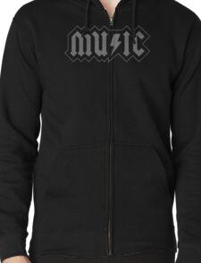 Music Zipped Hoodie