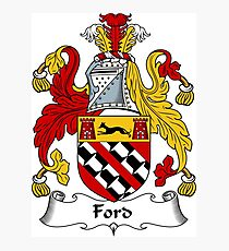 Ford Coat of Arms / Ford Family Crest Photographic Print