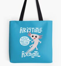 Aristotle Axolotl Tote Bag
