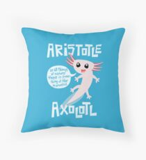 Aristotle Axolotl Throw Pillow