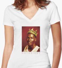 Notorious Michael jordan chicago Women's Fitted V-Neck T-Shirt