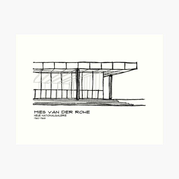 Mies Van der Rohe - Neue Nationalgalerie Art Print