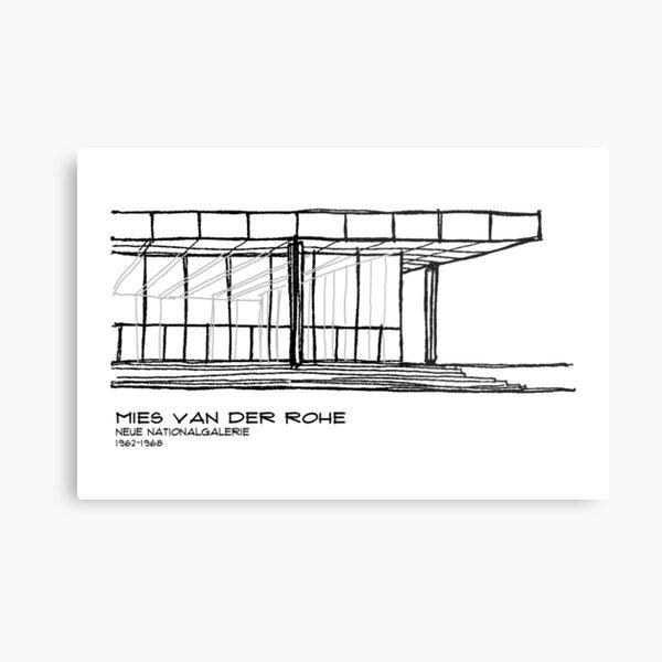 Mies Van der Rohe - Neue Nationalgalerie Metal Print