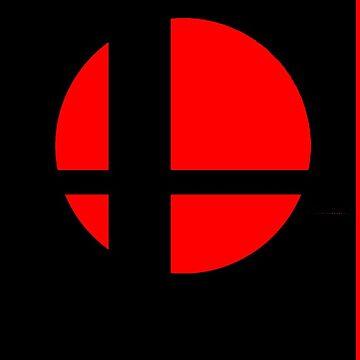 Super Smash Bros Logo - Black Background - Samsung Cases by Wobscur