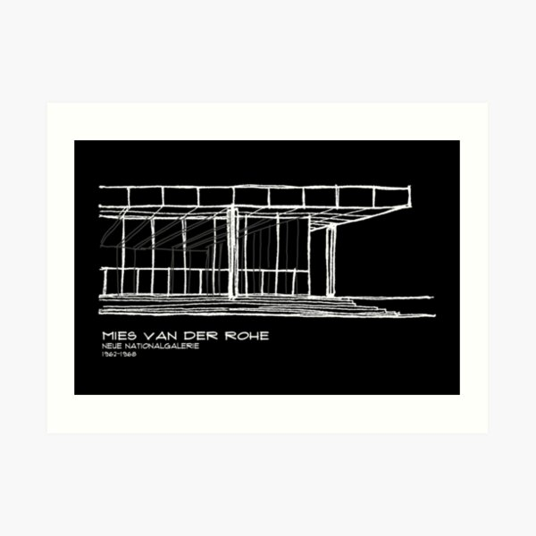 Copy of Mies Van der Rohe - Neue Nationalgalerie Art Print
