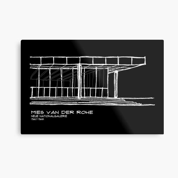 Copy of Mies Van der Rohe - Neue Nationalgalerie Metal Print