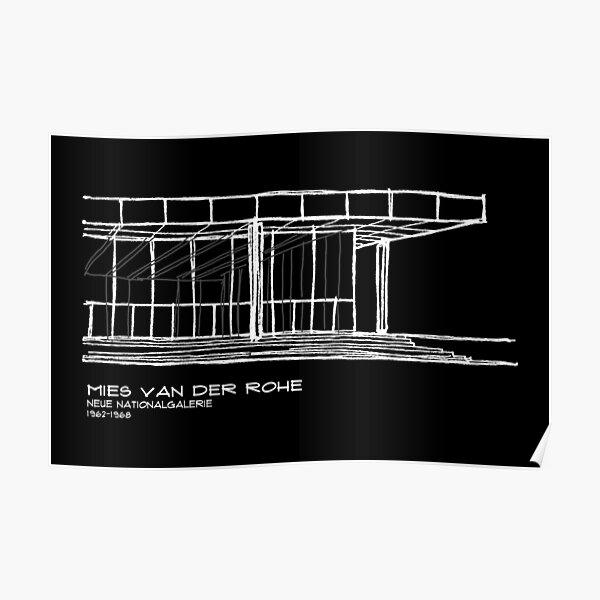 Copy of Mies Van der Rohe - Neue Nationalgalerie Poster