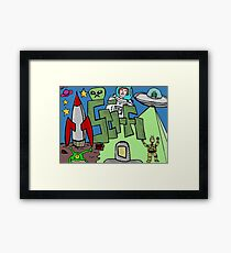 Science fiction Framed Print