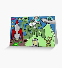 Science fiction Greeting Card