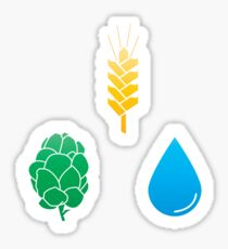 The Basic Ingredients of Beer Sticker
