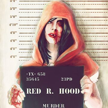 Red ridding hood mugshot by adroverart