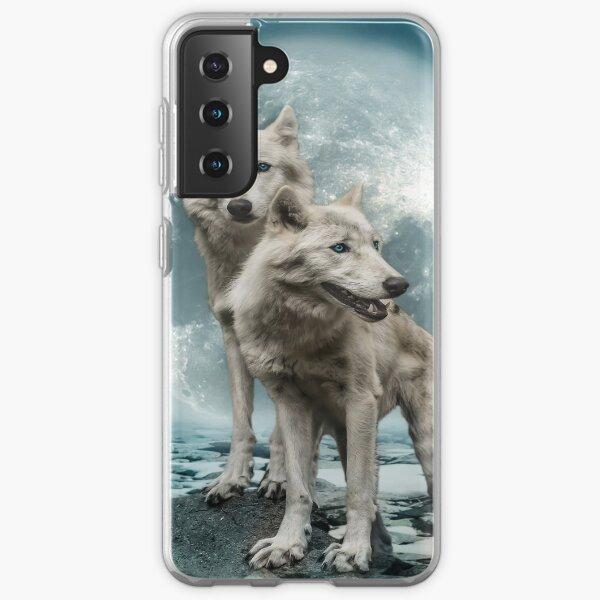 wolf couple Samsung Galaxy Soft Case