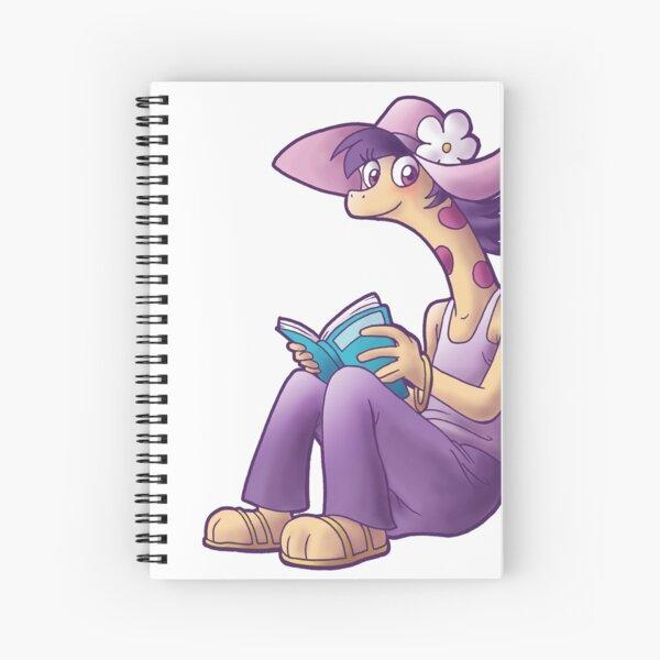 Reading giraffe Spiral Notebook