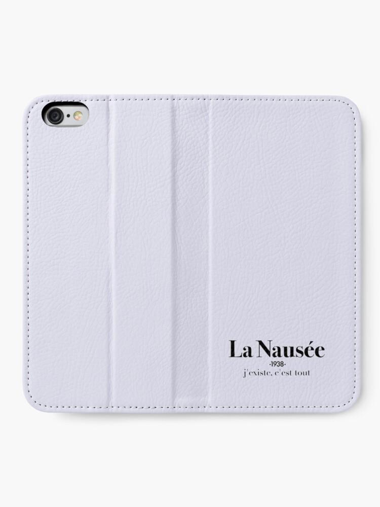 Alternate view of La Nausée iPhone Wallet