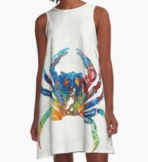 Colorful Crab Art By Sharon Cummings A-Line Dress