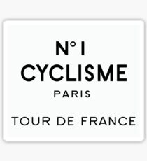 Tour de France Cycling Paris Sticker