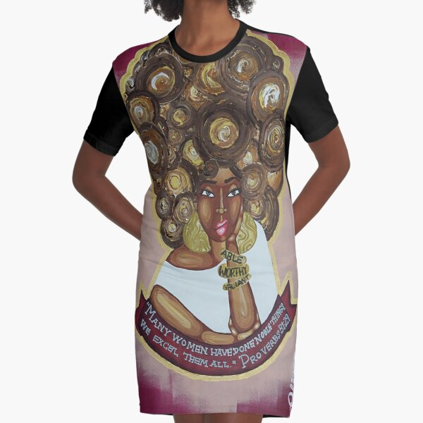 WE EXCEL THEM ALL Graphic T-Shirt Dress