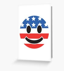 USA Smiley Face Greeting Card