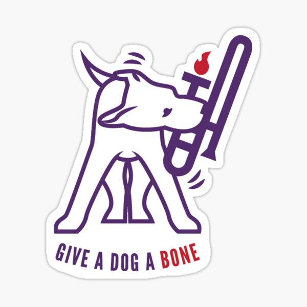 Give A Dog A Bone Sticker