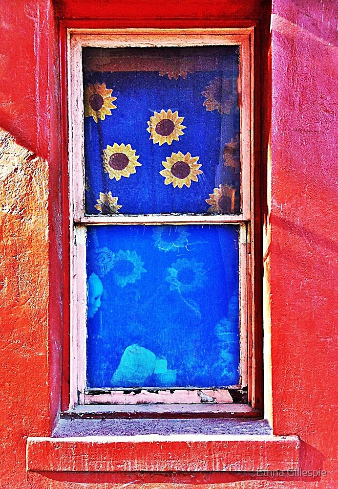 Sunflowers in the Window  by Ethna Gillespie