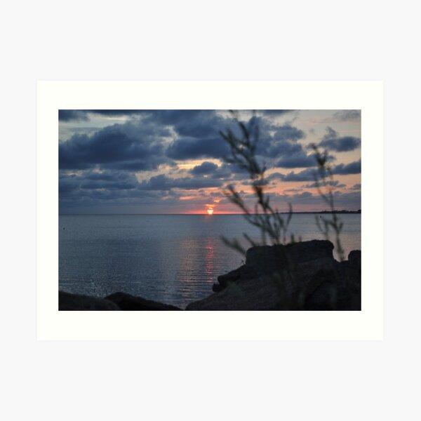 Sunset at Jockey's Ridge State Park Art Print