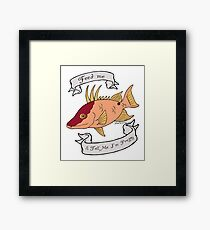 Hogfish diva Framed Print