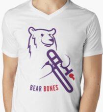 Bear Bones Men's V-Neck T-Shirt