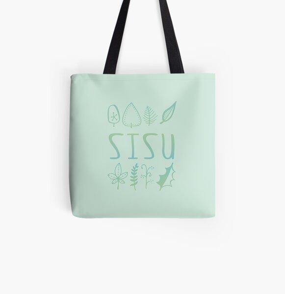 Sisu, Nature Scandinavian Forest All Over Print Tote Bag
