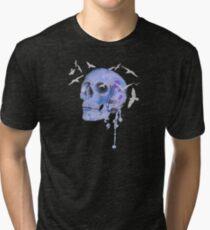 skull and birds Tri-blend T-Shirt