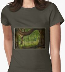 lonely bench Womens Fitted T-Shirt
