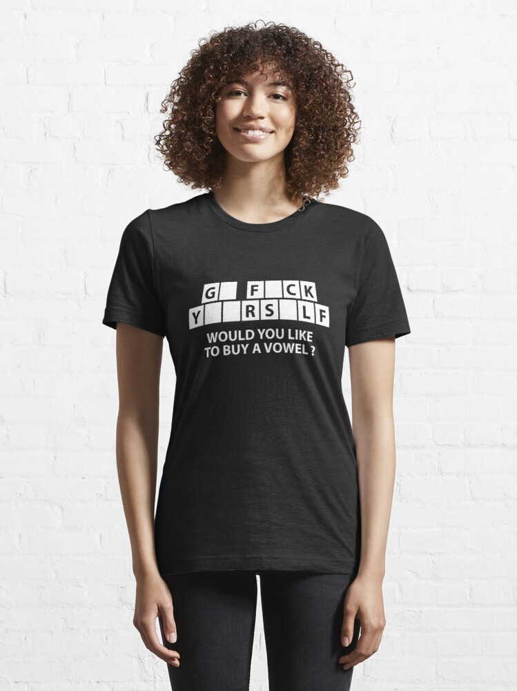Alternate view of Would You Like To Buy A Vowel? Essential T-Shirt