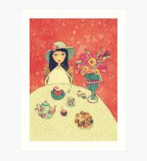 Drinking tee, blank note card Art Print