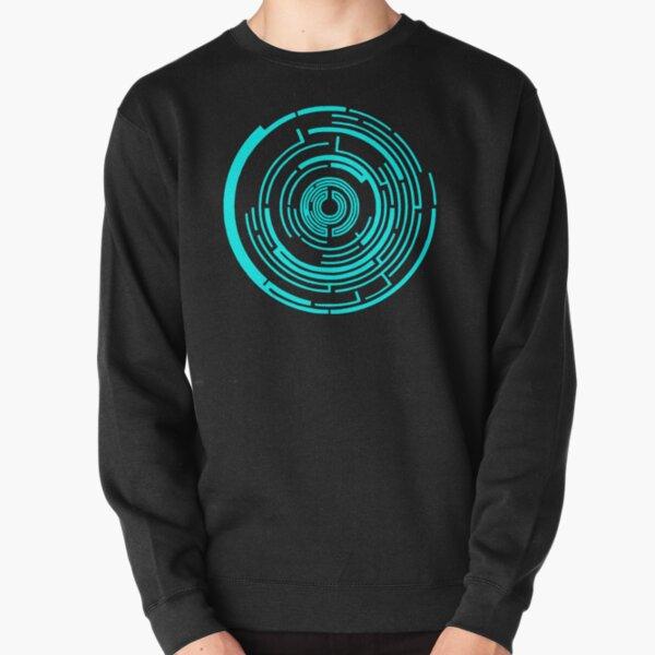 Maze Design Blue Pullover Sweatshirt