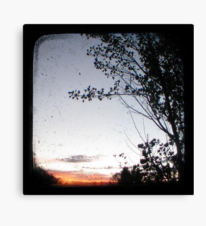 New England Sunset Through The Viewfinder (TTV) Canvas Print