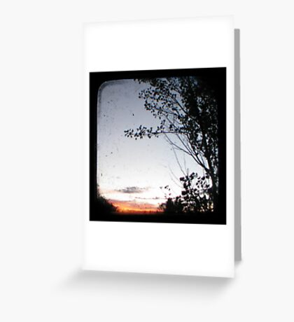 New England Sunset Through The Viewfinder (TTV) Greeting Card