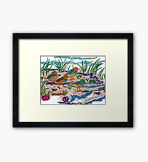 WATER FOWL BABIES Framed Print