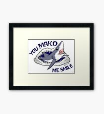 Mako smile Framed Print